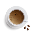 Cup of Coffee on a Plate vector image