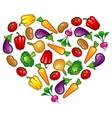 Healthy vegetable heart vector image