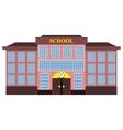 modern school building flat design vector image