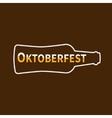 Oktoberfest Beer bottle Lined icon Flat design vector image