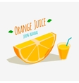 Orange Juice vector image