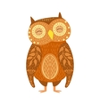 Owl Relaxed Cartoon Wild Animal With Closed Eyes vector image