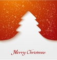 Red abstract christmas tree applique with snow vector image