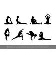 set yoga poses vector image