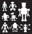 Robot Silhouettes 2 vector image vector image