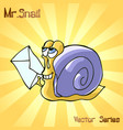 mr snail with letter vector image