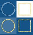 circle rope frame border vector image