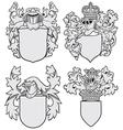 set of aristocratic emblems No8 vector image