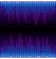 Blue and purple digital equalizer background vector image