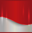 abstract cherry red and silver metallic background vector image