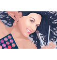 Makeup artist portrait vector image