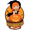 Little sexy witch Halloween vector image vector image