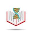 book school open and dna vector image