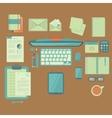 Businessman work table vector image