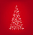 christmas tree from white christmas ball toy vector image