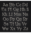 cut alphabet metallic vector image
