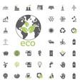 eco planet icon eco and alternative energy vector image
