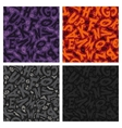 Set of Four Halloween Seamless Patterns vector image