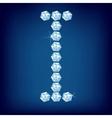 vector diamond alphabet letter i vector image