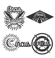Vintage circus emblems vector image