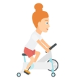 Woman making exercises vector image