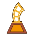 cartoon strip film trophy awards gold wooden vector image
