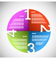 Color paper progress circle vector image vector image