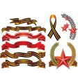 Military decoration style ribbons vector