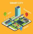 smart city tablet concept vector image