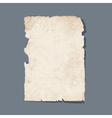 Torn sheet of old paper vector image vector image
