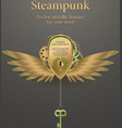 banner with gears steampunk logo vector image