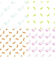 Feet seamless pattern and background set Foot vector image