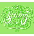 Spring lettering background vector image