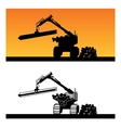 wood loader vector image