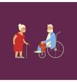 Banner of Retired elderly vector image