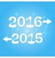 Happy new year 2016 2015 vector image