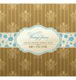 Invitation vintage label vector frame vector image