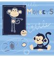 Little monkey vector image