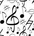 Seamless Pattern Music Signs Background vector image