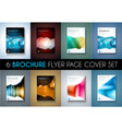 Set of 8 Brochures templates Flyer Designs or vector image
