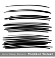 Set of Hand Drawn Scribble Smears vector image