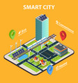 smart city tablet concept vector image
