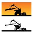 wood loader vector image