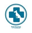 veterinarian pet clinic icon vector image