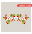 Vintage Floral Graphic Design for T-shirt Fashion vector image vector image