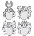 set of aristocratic emblems No9 vector image