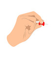 hand with push-pin vector image