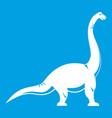 Brachiosaurus dinosaur icon white vector image