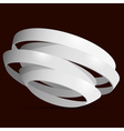 3d white rings vector image vector image