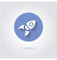 Flat style with long shadows rocket icon vector image